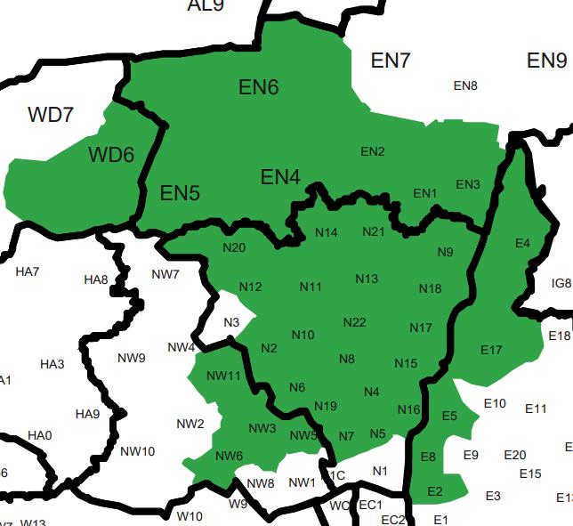 London North Map