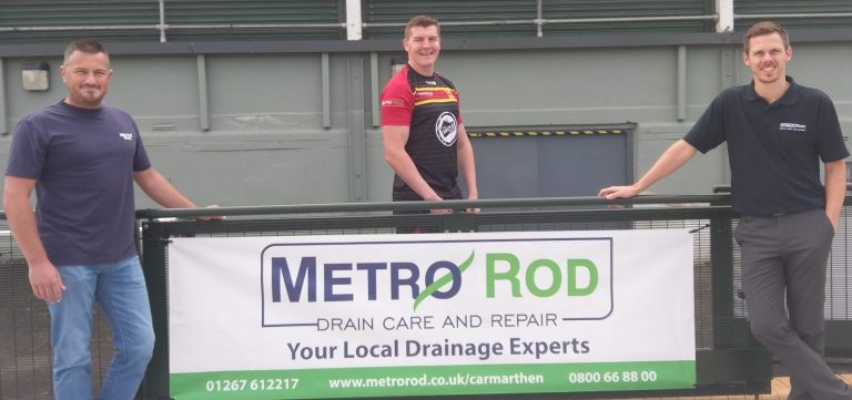 Metro Rod Swansea Carmarthen Quins Rugby Club Sponsors Blocked Drain Experts 2