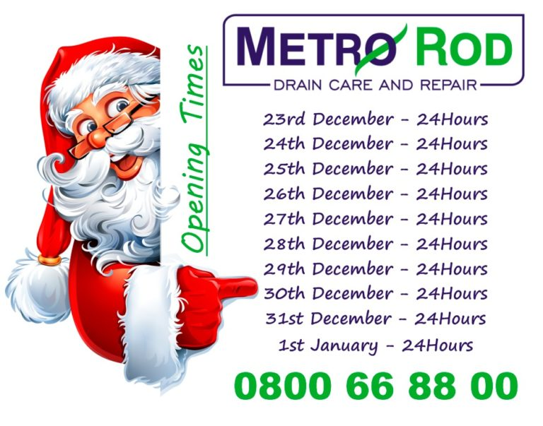 Slough blocked drain Christmas hours