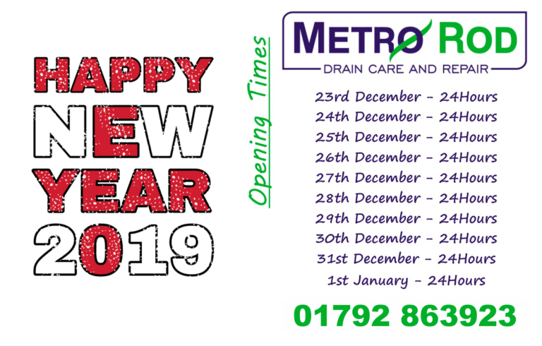 Happy New Year 2019 Metro Rod Swansea Open 247 Blocked Drains Drainage Experts Swansea Carmarthen Neath Port Talbot