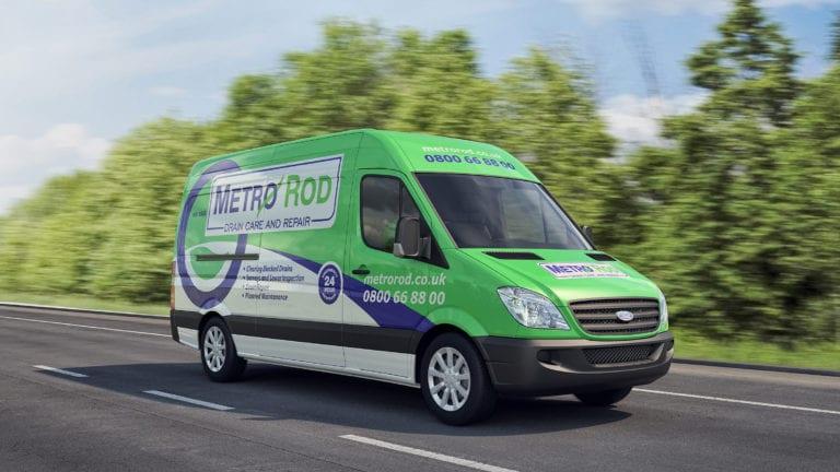 Metro Rod Slough blocked drains van