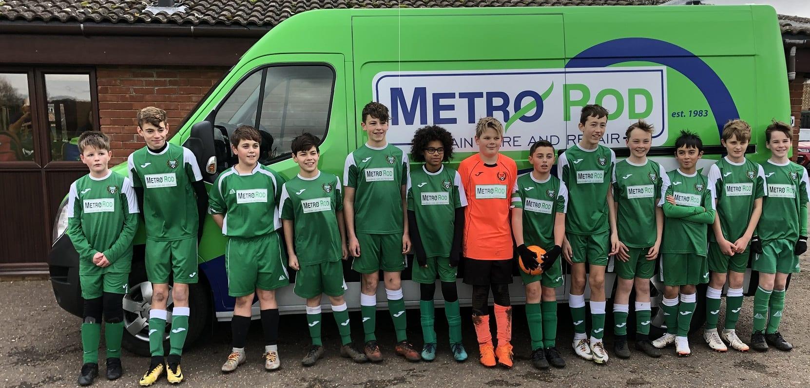 Metro Rod Norwich Are Proud Sponsors Of Tasburgh United