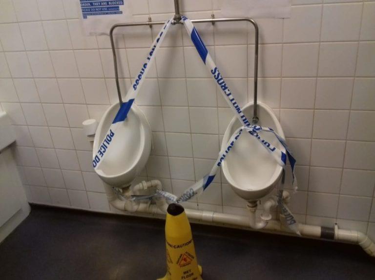 London drain crime scene