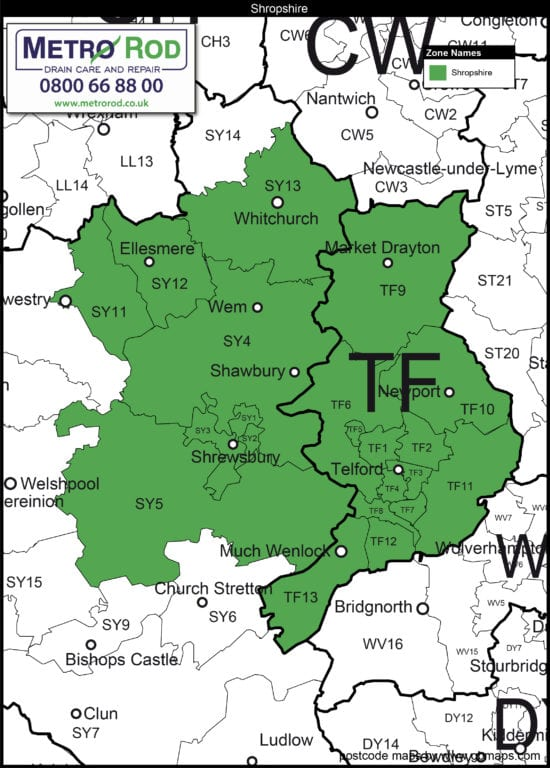 Shropshire Online Postcode