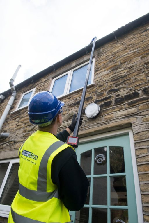 Metro Vac is a great, safer alternative to gutter clearance!