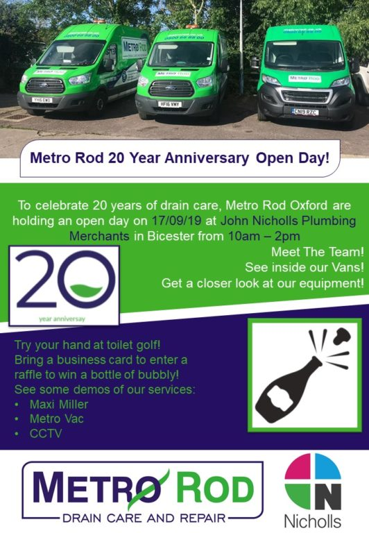 Open Day Poster Metro Rod Oxford