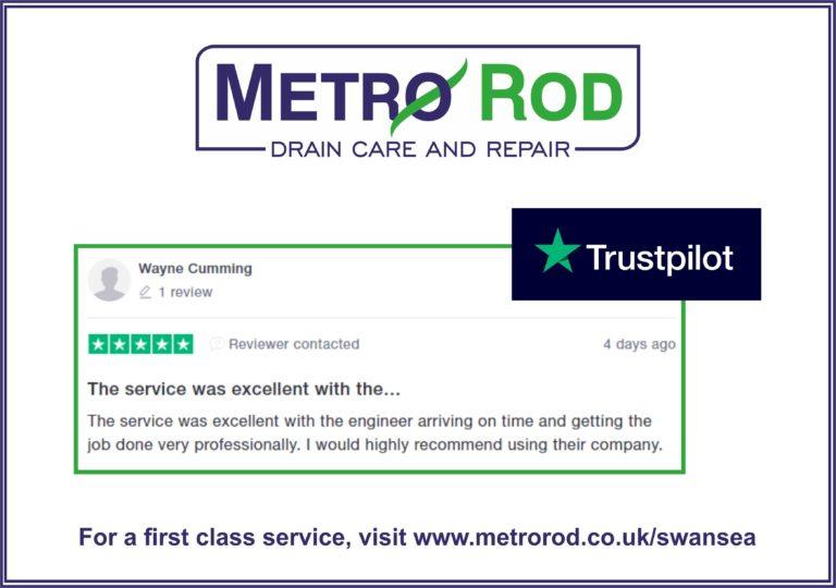 Customer Feedback Wayne Trustpilot Commercial Drainage Experts Swansea Metro Rod llanelli carmarthen pembroke neath port talbot