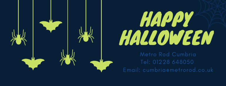 Blue Halloween Greeting Facebook Cover (1)
