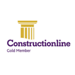 Construction Line Round Logo