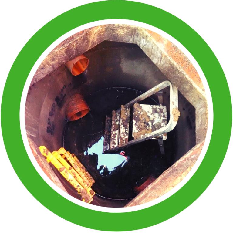 Step ladders in drain