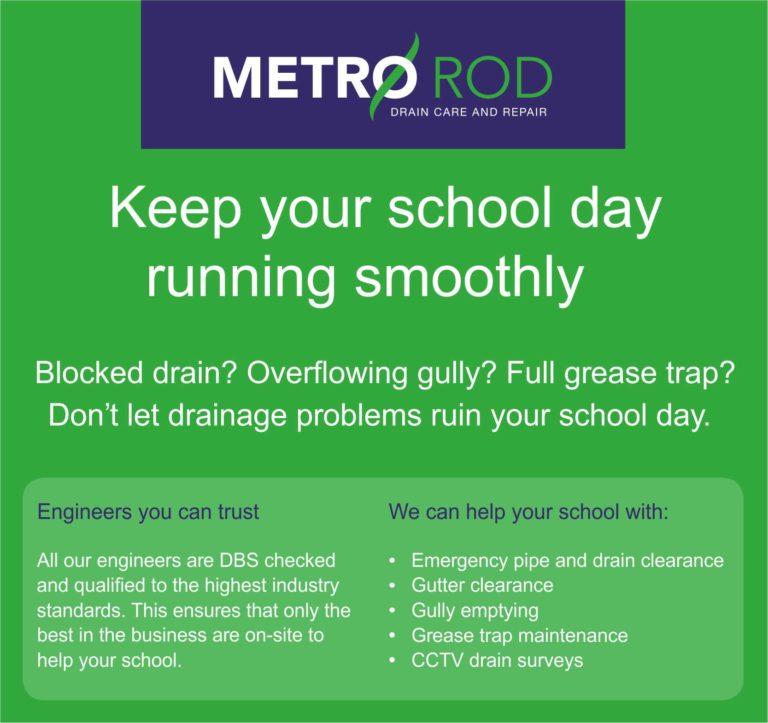 School Drainage Metro Rod Swansea Commercial Drainage Experts Llanelli NEath Port Talbot Carmarthen Pembroke
