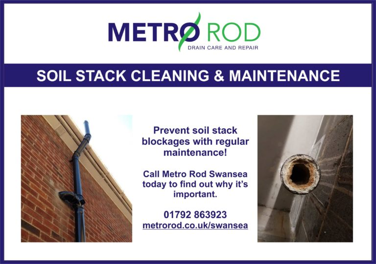Soil stack maintenance cleaning Metro Rod Swansea Llanelli Carmarthen Neath Port Talbot Blocked Drains Pembroke Commercial Drainage Experts CCTV Survey