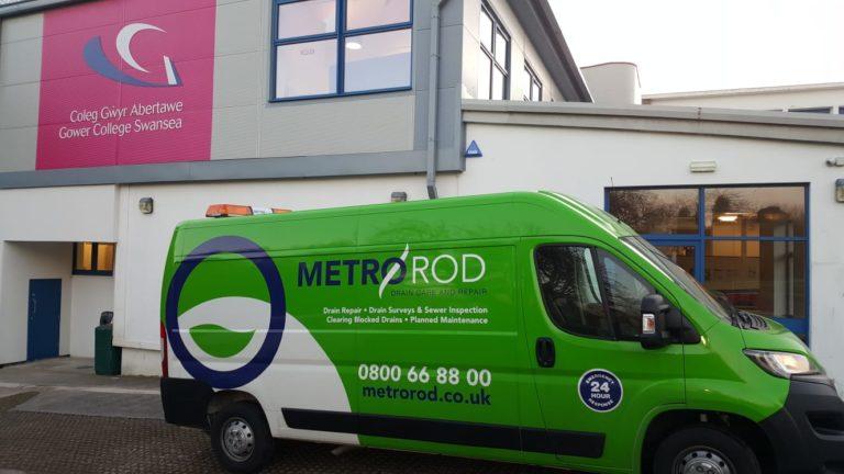 MEtro Rod Swansea Gower College Blocked Drain Pre-planned Preventative Maintenance Commercial Drainage Experts Neath Port Talbot Llanelli Carmarthen Pembroke CCTV